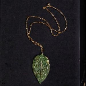 Jewelry - Unique Bohemian / hippie plant / leaf necklace